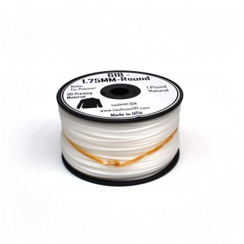 2.85mm White Nylon 618 filament 0.45kg